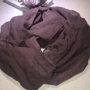 Aritzia scarf sparkly shawl purple knitted